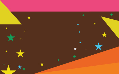 Flat design business Vector Illustration concept Empty template copy space Posters coupons promotional material. Starry Pattern of Scattered Little Stars like Colorful Confetti in the sky Illustration