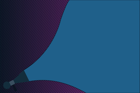 Flat design Vector Illustration Empty esp template copy text for Ad, promotion, poster, flyer, web banner, article. Extend Loudness Sound Intensity Volume Range Pitch Power Megaphone Speaker