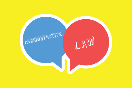Handwriting text Administrative Law. Concept meaning Body of Rules regulations Orders created by a government. 스톡 콘텐츠