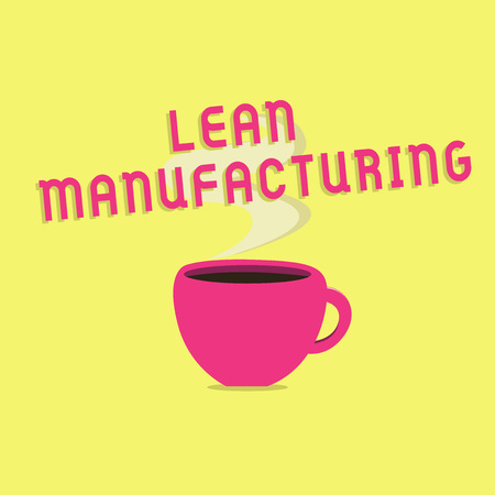 Text sign showing Lean Manufacturing. Conceptual photo Waste Minimization without sacrificing productivity. Stock Photo
