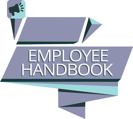 Writing note showing Employee Handbook. Business photo showcasing Document that contains an operating procedures of company. Imagens