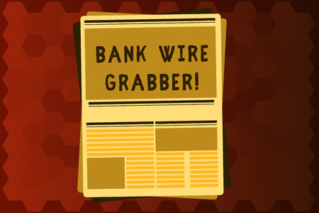 Text sign showing Bank Wire Transfer. Conceptual photo Electronic transfer of money through bank to bank. Foto de archivo