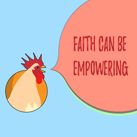 Word writing text Faith Can Be Empowering. Business concept for Trust and Believing in ourselves that we can do it. Banco de Imagens