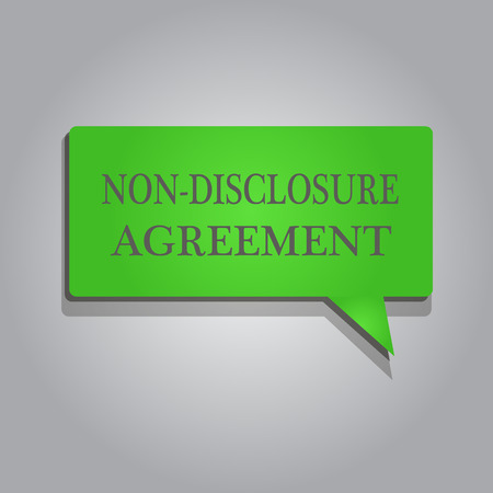 Writing note showing Non Disclosure Agreement. Business photo showcasing Legal Contract Confidential Material or Information.
