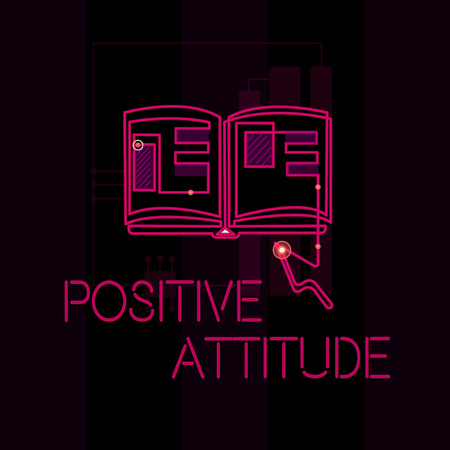 Word writing text Positive Attitude. Business concept for Being optimistic in Life Looking for good things. Archivio Fotografico