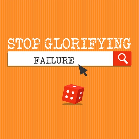 Handwriting text writing Stop Glorifying Failure. Concept meaning do not let Breakdown Rule your life Try again. 版權商用圖片