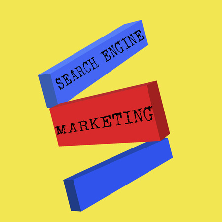 Word writing text Search Engine Marketing. Business concept for promote Website visibility on searched result pages.