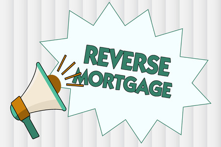 Conceptual hand writing showing Reverse Mortgage. Business photo showcasing loan for seniors age above sixties and older to be returned.