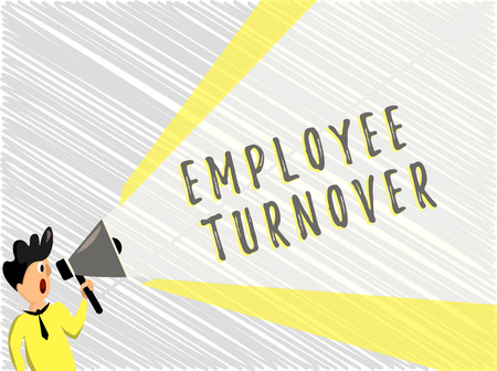 Word writing text Employee Turnover. Business concept for Number or percentage of workers who leave an organization.