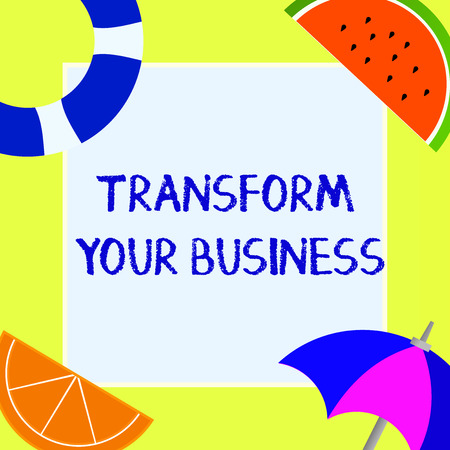Writing note showing Transform Your Business. Business photo showcasing Modify energy on innovation and sustainable growth.