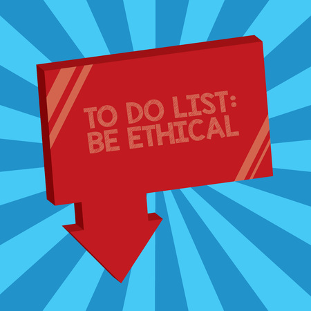 Writing note showing To Do List Be Ethical.