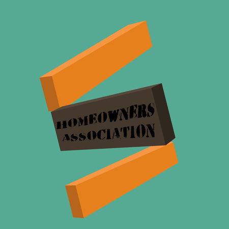 Conceptual hand writing showing Homeowners Association.