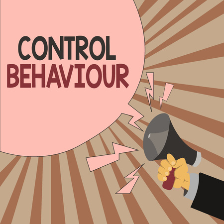 Word writing text Control Behaviour. Business concept for Exercise of influence and authority over human conduct.
