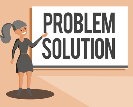 Conceptual hand writing showing Problem Solution. Business photo showcasing solving consists of using generic methods in orderly manner. Stock Photo