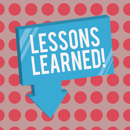Conceptual hand writing showing Lessons Learned. Business photo text information reflects positive and negative experiences. Stock fotó