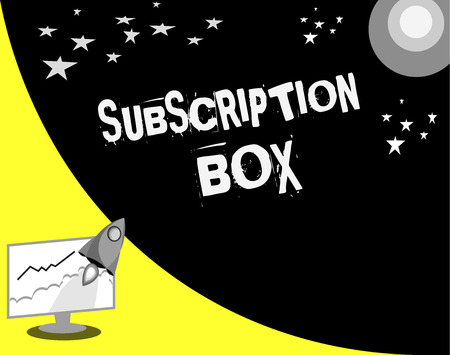 Word writing text Subscription Box. Business concept for button if you clicked on will get news or videos about site.
