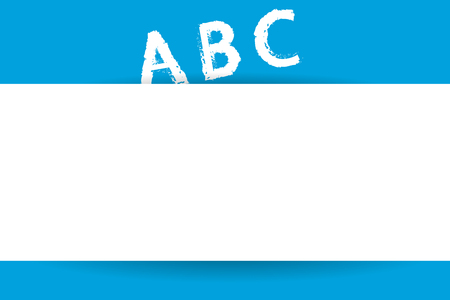 Flat design Vector Illustration Empty esp template copy text for Ad, promotion, poster, flyer, web banner, article. Alphabet Letter in Uppercase A B C standing on imaginary incline surface