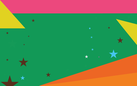 Flat design business Vector Illustration Empty template Layout for invitation greeting card promotion poster voucher. Starry Pattern of Scattered Little Stars like Colorful Confetti in the sky