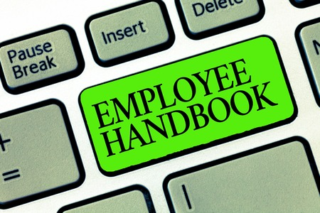Word writing text Employee Handbook. Business concept for Document that contains an operating procedures of company. Stock Photo