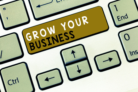 Text sign showing Grow Your Business. Conceptual photo Achieve higher profit Provide better return of investment. Stok Fotoğraf