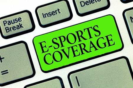 Word writing text E Sports Coverage. Business concept for Reporting live on latest sports competition Broadcasting.