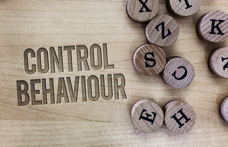 Conceptual hand writing showing Control Behaviour. Business photo showcasing Exercise of influence and authority over human conduct.