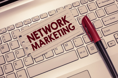 Conceptual hand writing showing Network Marketing. Business photo showcasing Pyramid Selling Multi level of trading goods and services.