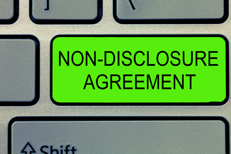 Conceptual hand writing showing Non Disclosure Agreement. Business photo text Legal Contract Confidential Material or Information. Stock Photo