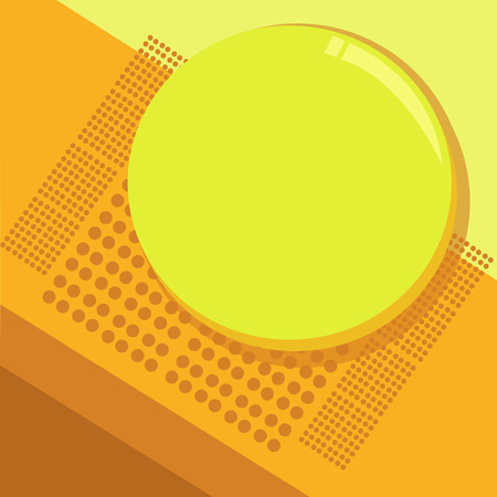 Flat design business Vector Illustration concept template copy space text for Ad website esp isolated 3d isometric. Circular Round Halftone Button Shining Reflecting Glossy with Shadow