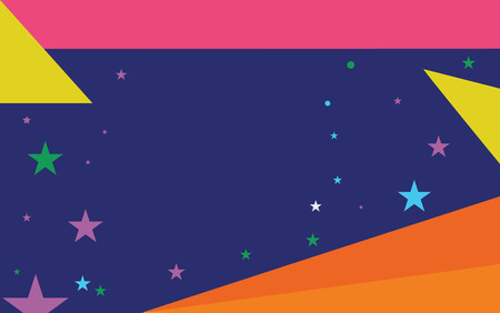 Flat design business Vector Illustration concept copy text for esp Web banners promotional material mock up template. Starry Pattern of Scattered Little Stars like Colorful Confetti in the sky