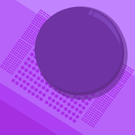 Flat design business Vector Illustration Empty copy space for Ad website promotion esp isolated Banner template. Circular Round Halftone Button Shining Reflecting Glossy with Shadow Stock Photo