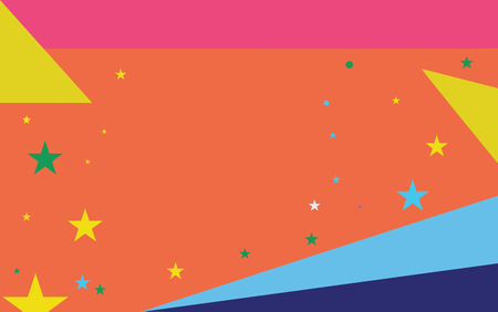Flat design business Vector Illustration Empty copy space for Ad website promotion esp isolated Banner template. Starry Pattern of Scattered Little Stars like Colorful Confetti in the sky