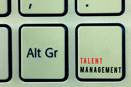 Word writing text Talent Management. Business concept for Acquiring hiring and retaining talented employees.