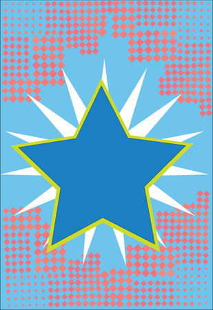 Flat design business Vector Illustration Empty template Layout for invitation greeting card promotion poster voucher. Bordered Glowing Star on Rays of Light Starburst First Class Quality