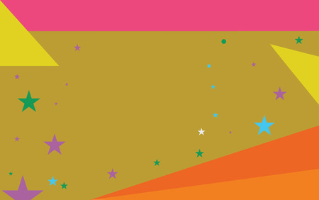 Flat design business Vector Illustration Empty template esp isolated Minimalist graphic layout template for advertising. Starry Pattern of Scattered Little Stars like Colorful Confetti in the sky Иллюстрация