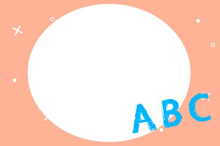 フラットデザインビジネスベクターイラスト空テンプレート招待状グリーティングカードプロモーションポスター券用レイアウト。架空の傾斜面に立つ大文字 A B C のアルファベット文字
