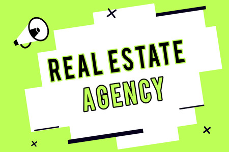Word writing text Real Estate Agency. Business concept for Business Entity Arrange Sell Rent Lease Manage Properties. Фото со стока