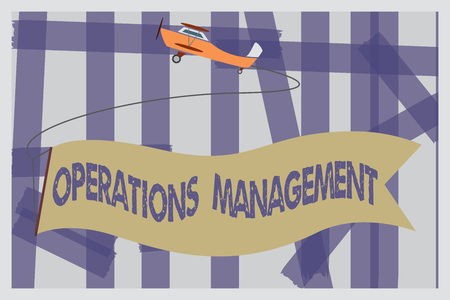 Writing note showing Operations Management. Business photo showcasing ensure Inputs to Output the Production and Provision.