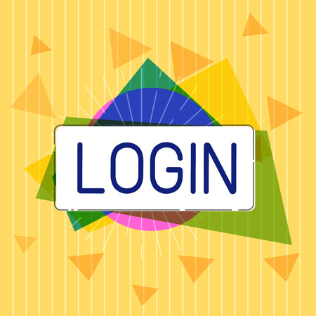 Handwriting text Login. Concept meaning Entering website Blog using username and password Registration. Stock Photo