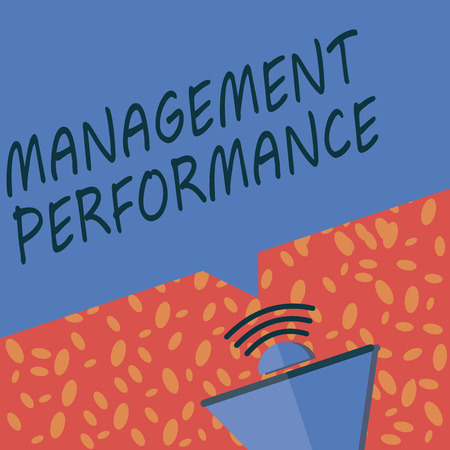 Writing note showing Management Performance. Business photo showcasing feedback on Managerial Skills and Competencies. Imagens