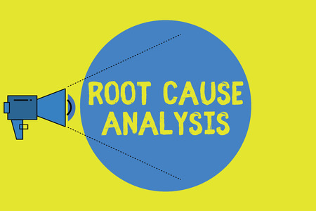 Writing note showing Root Cause Analysis. Business photo showcasing Method of Problem Solving Identify Fault or Problem. Standard-Bild - 108505084