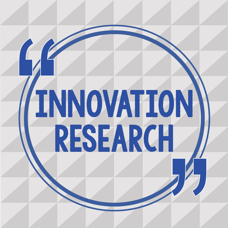 Text sign showing Innovation Research. Conceptual photo Existing Products Services come into New Being.