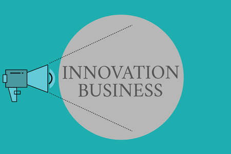 Conceptual hand writing showing Innovation Business. Business photo text Introduce New Ideas Workflows Methodology Services.