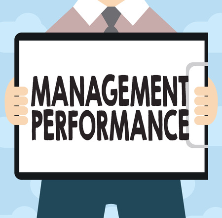 Text sign showing Management Performance. Conceptual photo feedback on Managerial Skills and Competencies.