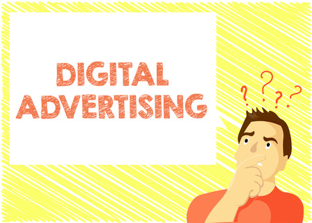 Word writing text Digital Advertising. Business concept for Online Marketing Deliver Promotional Messages Campaign.