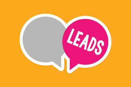 Text sign showing Leads. Stock Photo