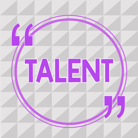 Écriture conceptuelle montrant le talent. Photo d'entreprise présentant des aptitudes naturelles ou des compétences au travail de loisir ou de sport Vous l'avez.