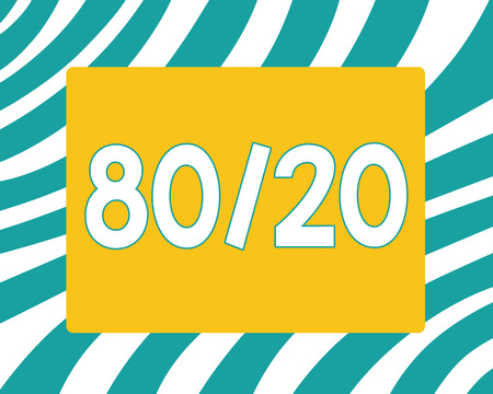 Writing note showing 80 20. Business photo showcasing Pareto principle of factor sparsity Statistical distribution of data.