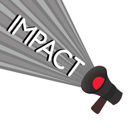 Word writing text Impact. Business concept for action of one object coming forcibly into contact with another.