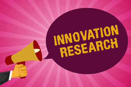 Writing note showing Innovation Research. Business photo showcasing Existing Products Services come into New Being.